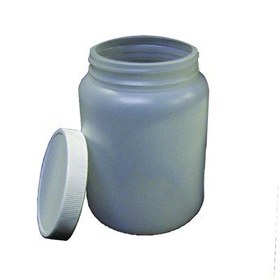 1 Litre/32 oz. Single Wall Plastic Jar W/ Lid