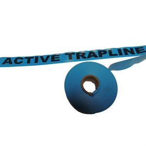 """Flagging Tape Printed """"Active Trapline"""" - Blue"""