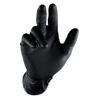 Grippaz Nitrile Gloves - Black, Medium (5 Pair)