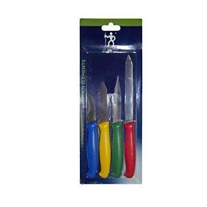 4 Piece Kitchen Paring Knife Set (4 Colours)