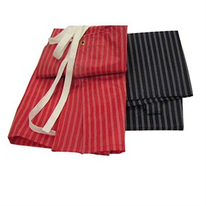 Nylon Apron - Red and White Stripes