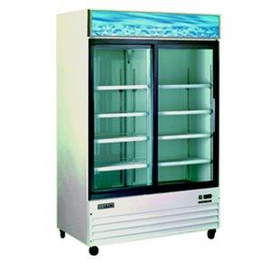 Omcan Display 2 Glass Door Cooler, 44.8 Cubic Feet (110 Volt)