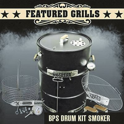 Big Poppa's Drum Smoker Kit (Drum Not Included. Assembly Required)