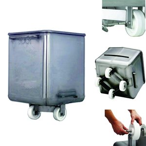 Stainless Steel V-Edge Dump Buggy (With Handle)