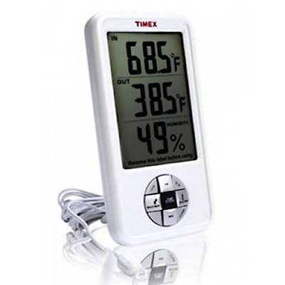 Digital Electronic Hygrometer w/Thermometer & Clock