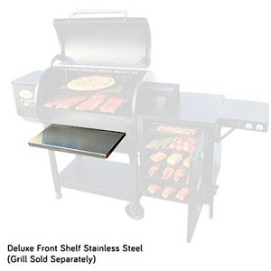 Deluxe Stainless Steel Front Shelf - (For Louisiana Grills)