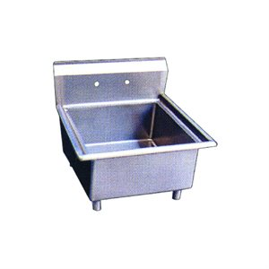 Stainless Steel One Tub Sink - No Drain Board