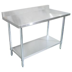 "Stainless Steel Work Table - with 4"" Backsplash (30"" x 72"")"