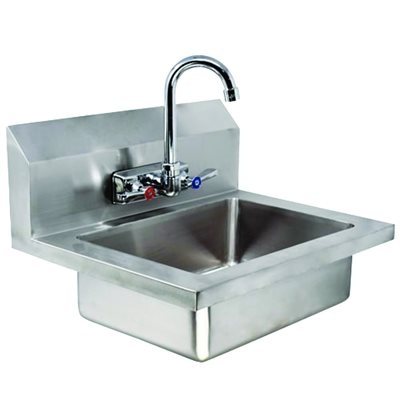 Wall Mounted Stainless Steel Sink With Knee Valve