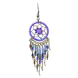 Dream Catcher Earrings - Medium - Light Purple