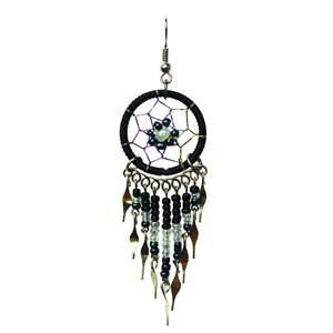 Dream Catcher Earrings - Medium - Black