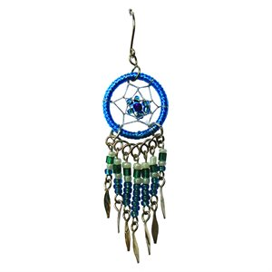 Dream Catcher Earrings - Small - Blue