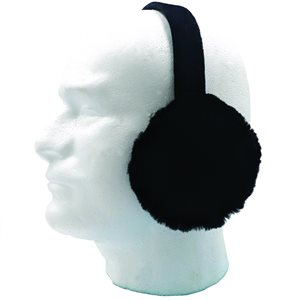 Ear Muffs - Sheared Beaver, Black