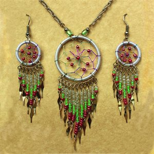Earring And Necklace Set - White
