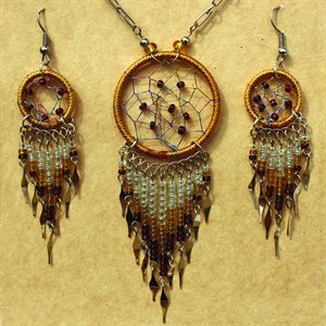 Earring And Necklace Set - Gold