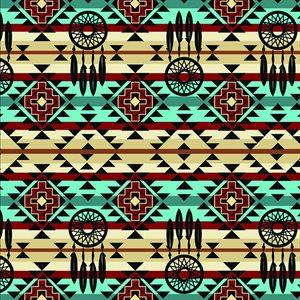 Native Dreamcatcher - Turquoise/Rust