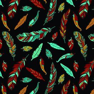 Feathers - Black/Multi