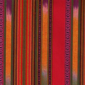 Shirting Fabric - Orange, Red and Pink Tones