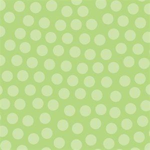 Noah's Ark Flannel - Dots - Green