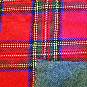 Southwest Wool Reversible Plaid Red