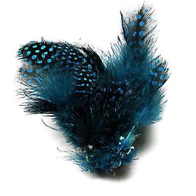 Guinea Fowl Tippets - Light Blue