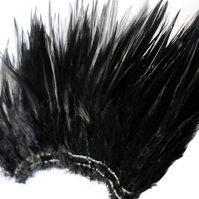 "Hackle Feathers (6""+) Black (1 oz)"