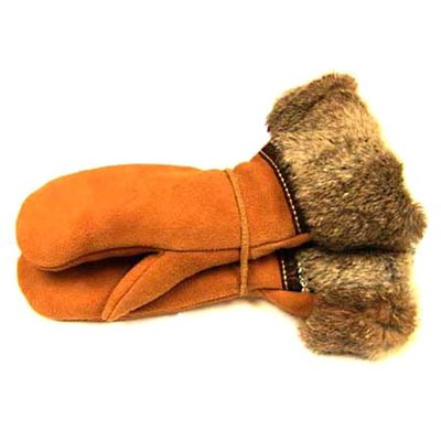 Moose Suede Gauntlet - Fur Trim (Medium)