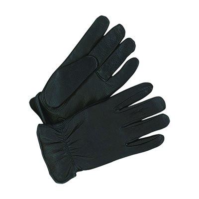 Deerskin Leather Gloves - Men's, Black, Lined (Large)