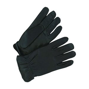 Deerskin Leather Gloves  - Men's, Black, Lined