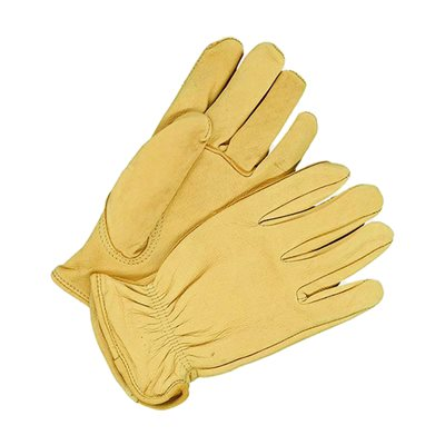 Deerskin Leather Gloves - Men's, Tan, Unlined (Large)