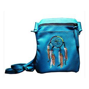 Pocket String Purse W/ Dream Catcher - Turquoise
