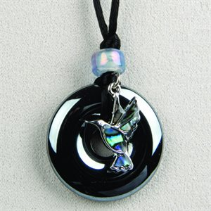 Necklace - Hummingbird With Hematite