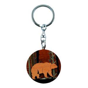 Bear Round Keychain