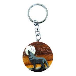 Wolf Round Keychain