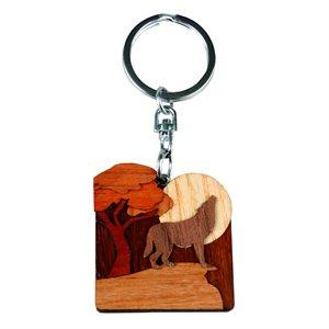 Wolf Woodland Keychain