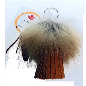 Key Chain - Fringe With Fox Fur