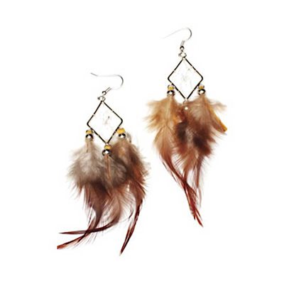 Diamond Dream Catcher Earring Kit W/Feathers