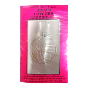 "Dream Catcher Earring Kits - 1.5"" Silver Round"