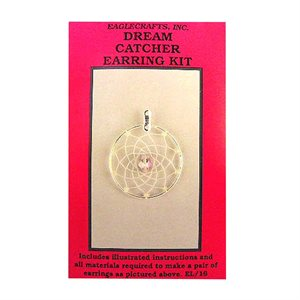 "Dream Catcher Earring Kits - 1.25"" Silver Round"