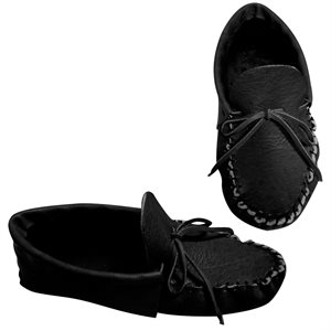 Adult Moccasin Kits w/Moose Leather - Black