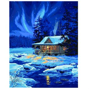 Paint By Numbers - Moonlit Cabin