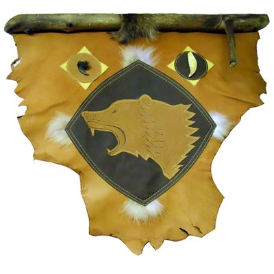 Wall Hanging - Bear Accented With Fur and Claws
