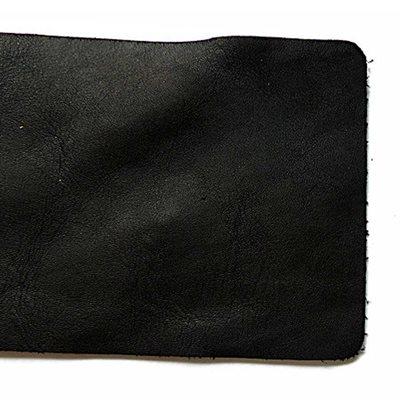 """Full Grain Leather Trim Pieces - Black (9"""" x 3"""")"""