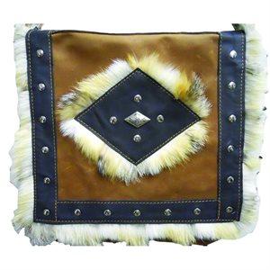 Large Bag - Brown and Black (Fox Fur)