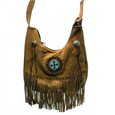 Tobacco Fringe & Beaded Purse