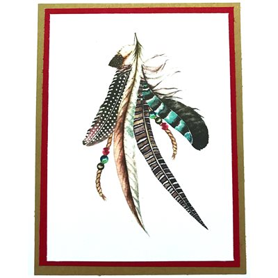 Handmade Card - Feathers