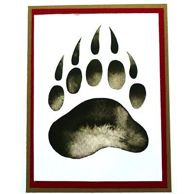 Handmade Card - Bear Paw