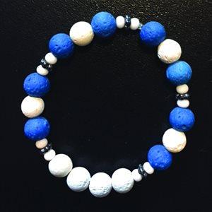 Lava Bracelets - Blue & White