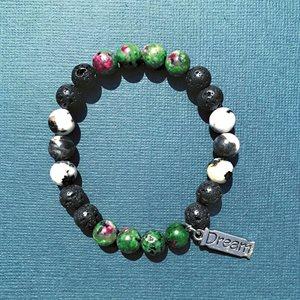 Lava Bracelets - Ruby Zoisite, Zebra & Lava Stones