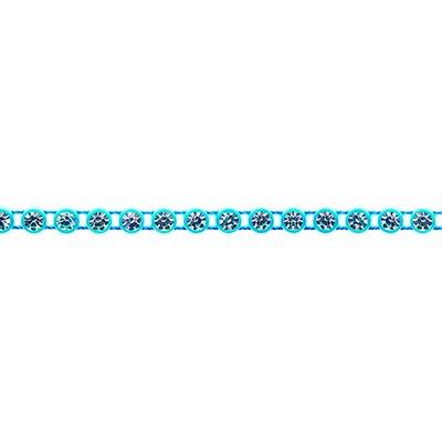 Rhinestone Banding - Aqua/Crystal